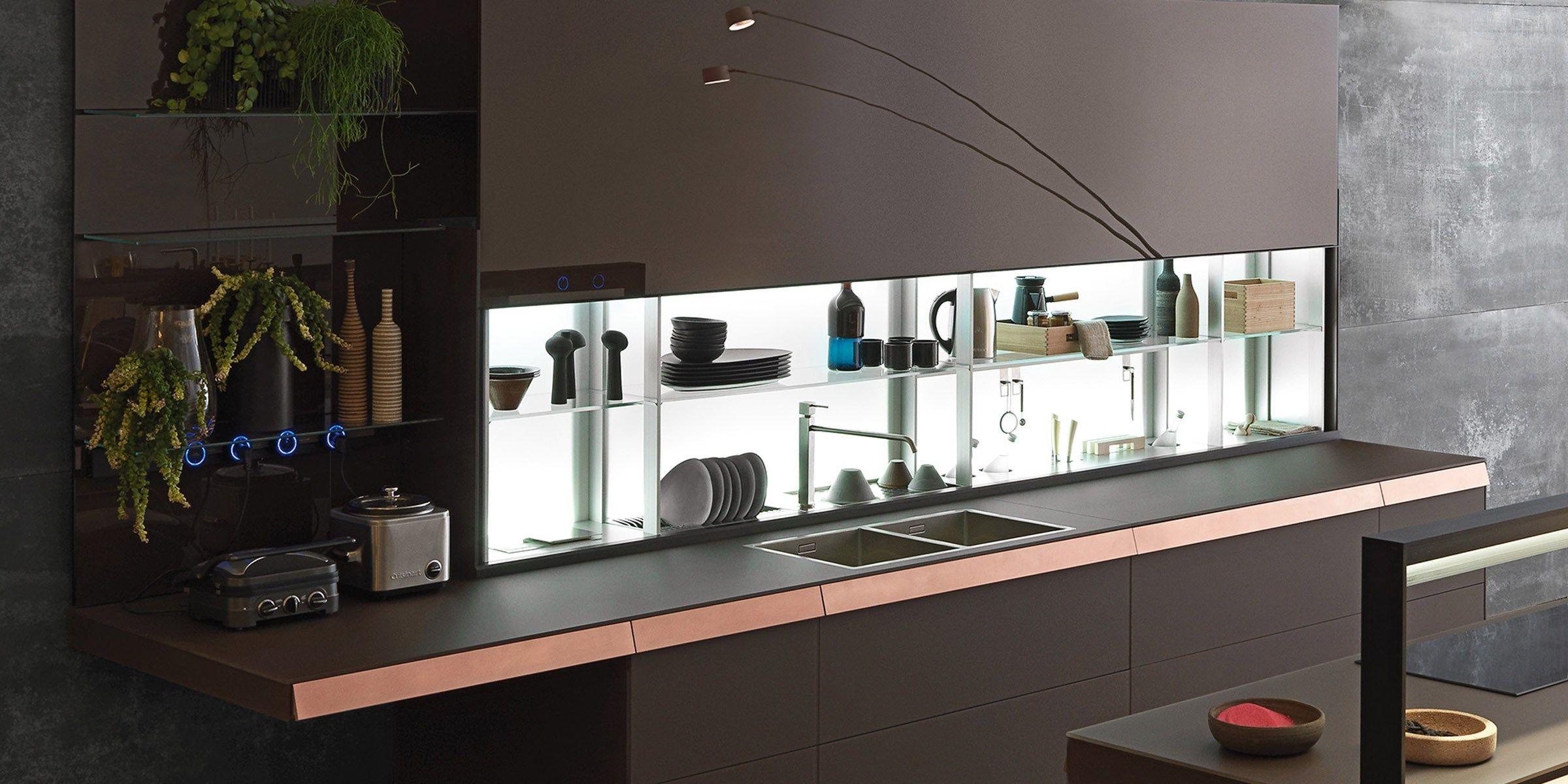 Küche mit Kücheninsel ohne Griffe GENIUS LOCI | Küche mit ...