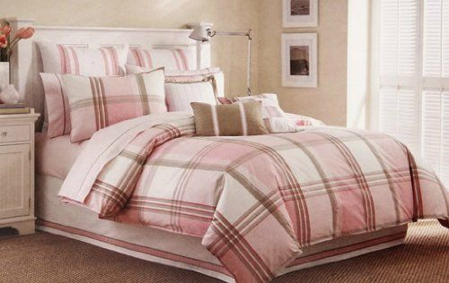 (Click to order - $86.83) Nautica Clear Lake 2-Piece Twin Comforter Set, Pink and Khaki From Nautica