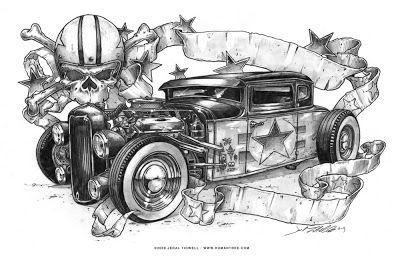 Big Bad Chevy Ed Roth Art Cartoon Art Rat Fink
