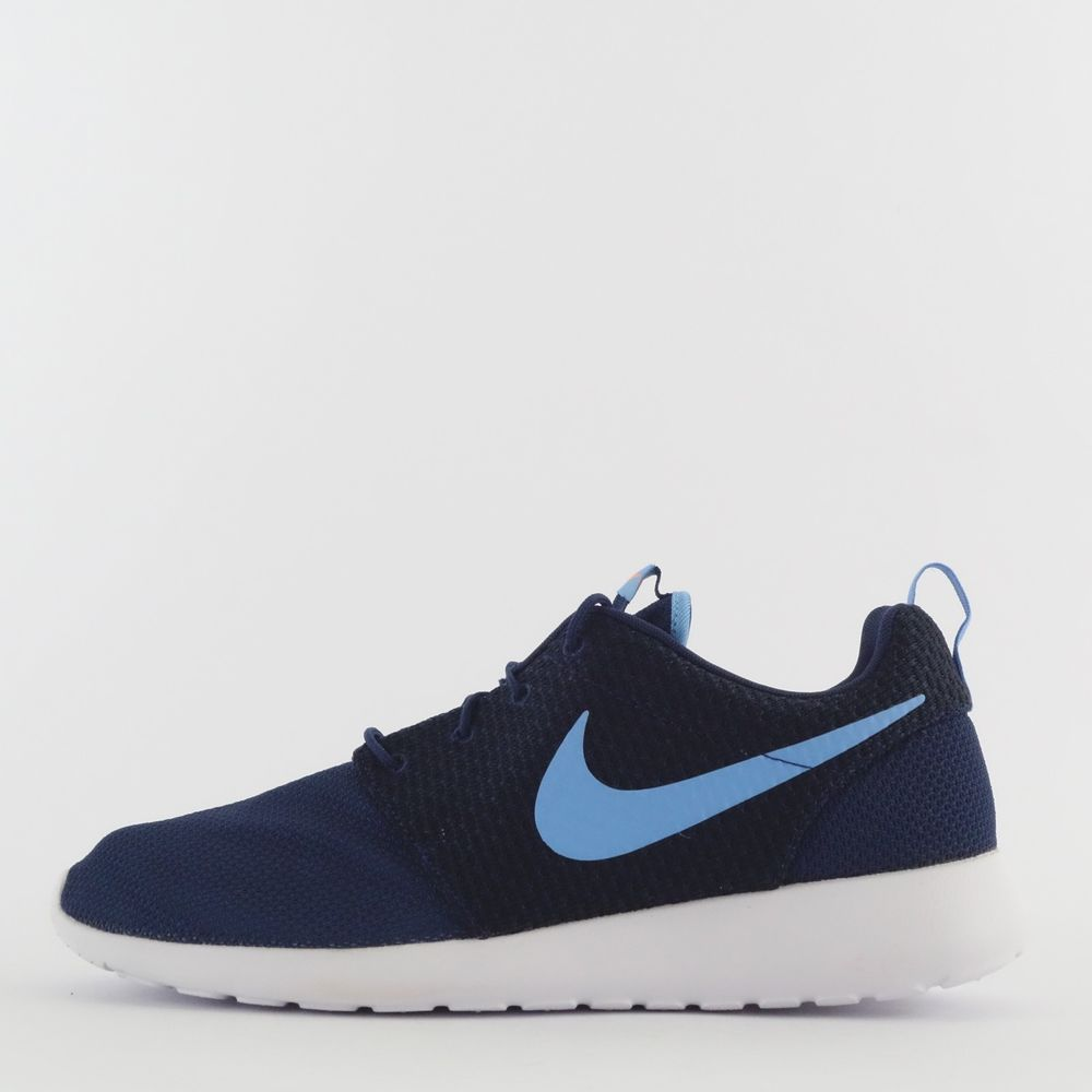 3d497c637c24 Nike Roshe Run One Men s Casual Trainers Shoes Sneakers Mid Navy Blue