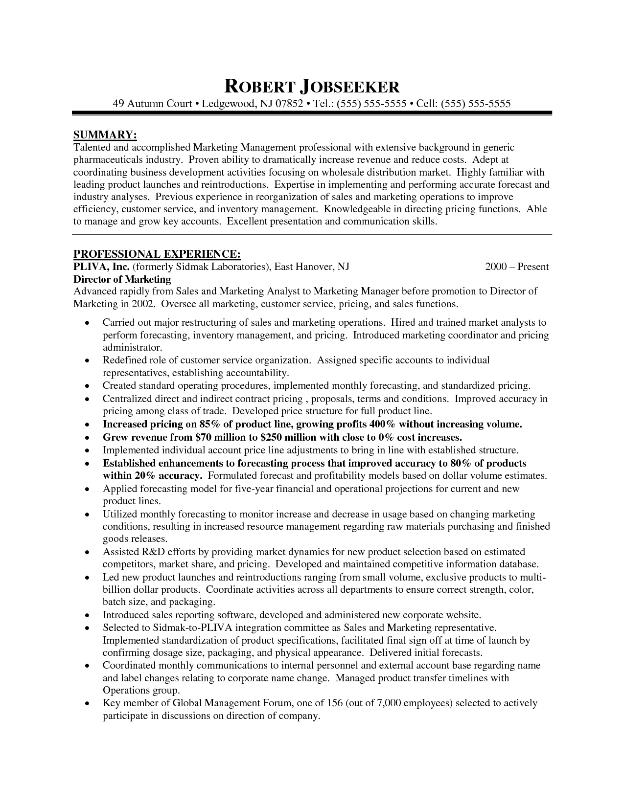marketing director resume marketing director resume