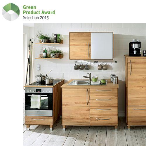 Massivholz-Modulküche CULINARIA Zero waste - küchen unterschrank mit arbeitsplatte