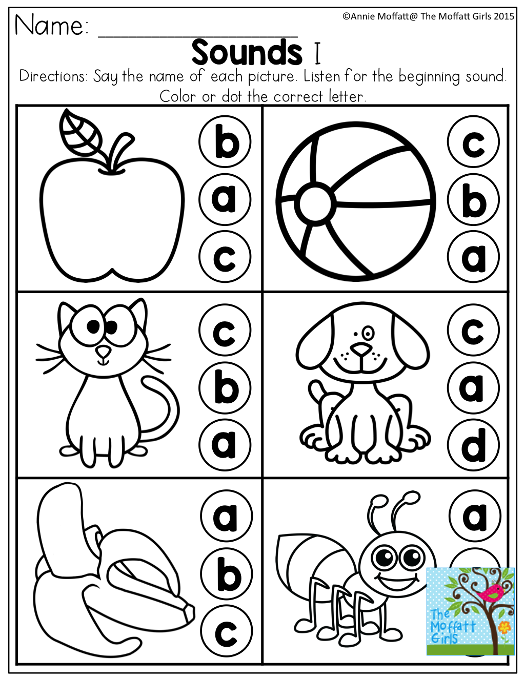 Beginning Sounds and much for for Pre-K to 3rd Grade! | Alphabet ...