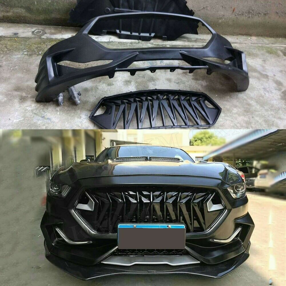 Mustang Carbon Fiber Front Bumper Lip Body Kits For Ford Mustang