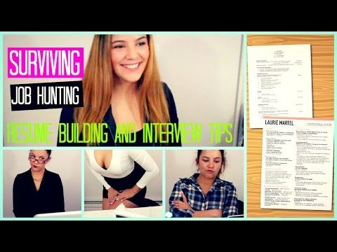 How to Survive Job Hunting  Resume Building DIY; Interview Tips - resume building