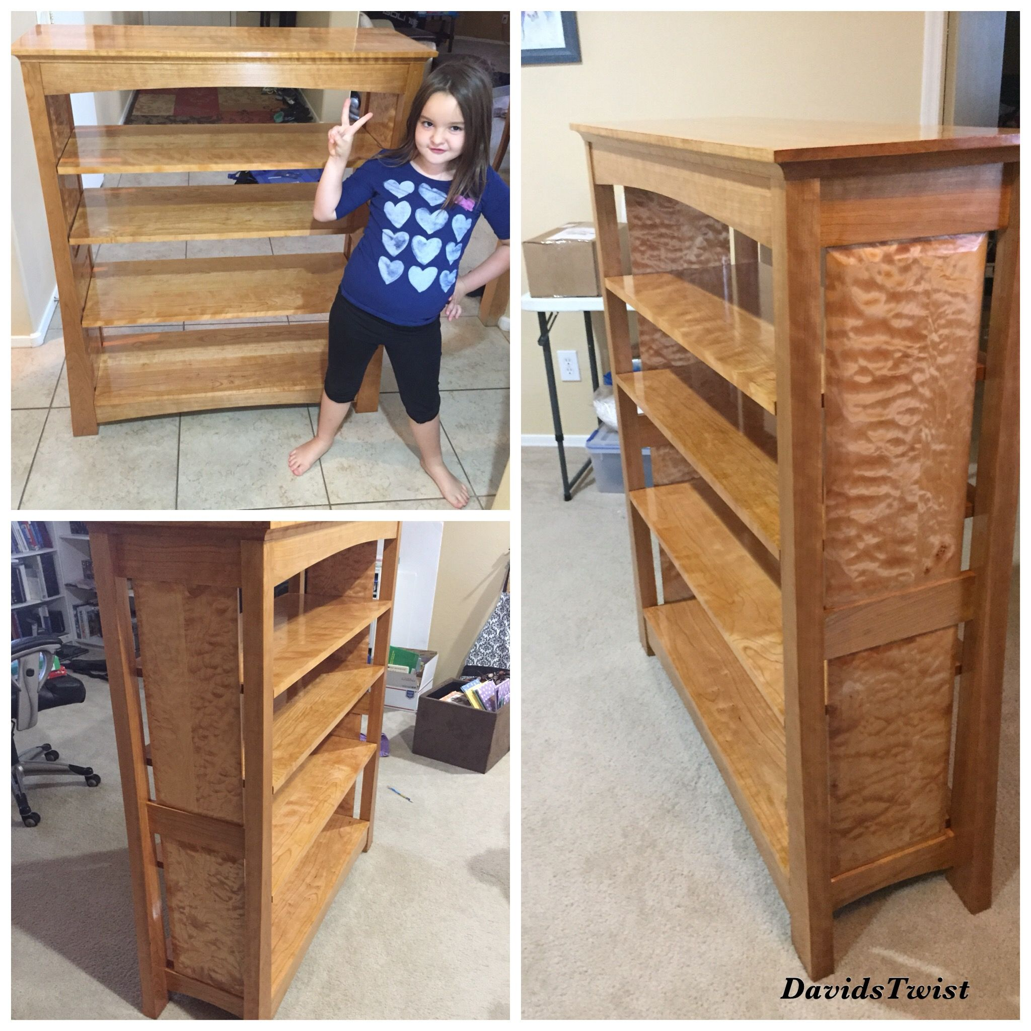 Bookcase Made From Cherry And Quilted Maple Bookcase Shoe Rack Home Decor