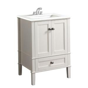 Simpli home chelsea in vanity soft white with quartz marble top and under mounted rectangular sink the depot also chumley single bathroom set finished basement rh pinterest