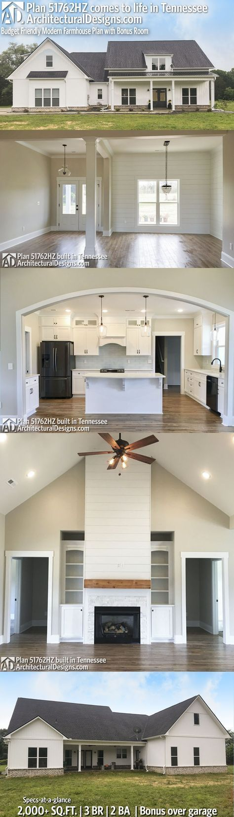 Architectural Designs House Plan 51762HZ Client Built In Tennessee. 3+BR, 2