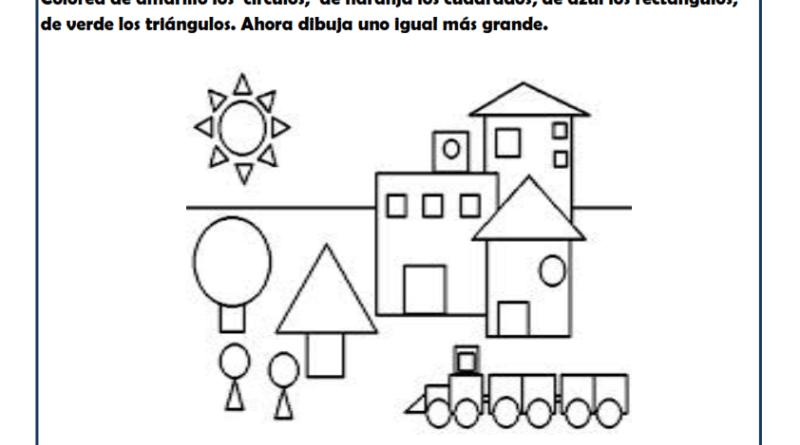 Fichas Infantil Con Formas Geometricas Para Imprimir Paralelas Y Perpendiculares Dibujo Con Lineas Figuras Geometricas
