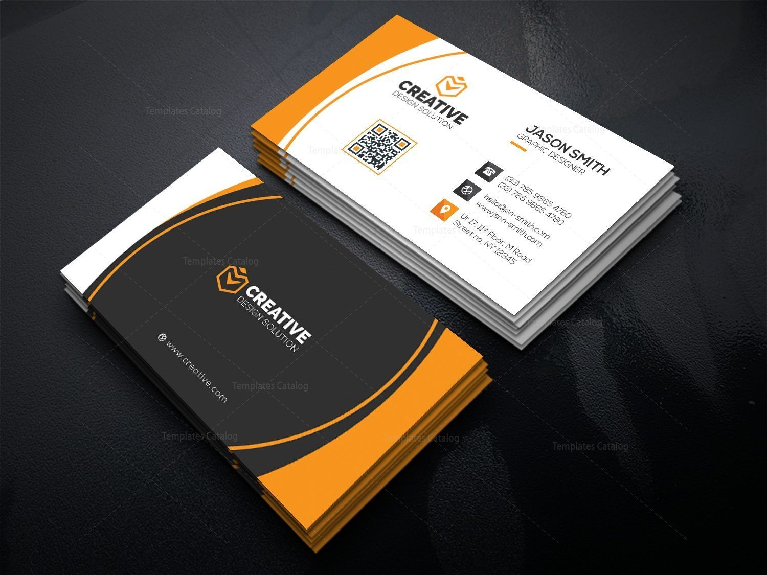 Elegant Executive Business Card Graphic Templates Business Card Mock Up Elegant Business Cards Corporate Business Card
