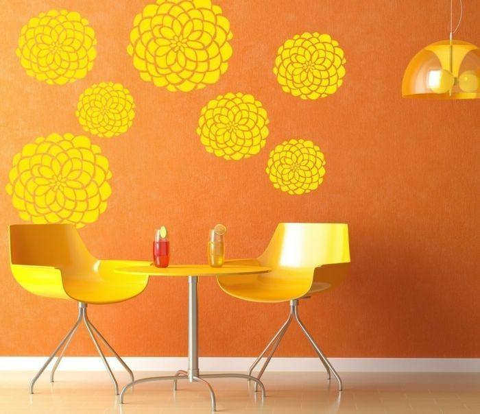 Wandmuster waende gestalten wandgestaltung farbgestaltung wandtattoo