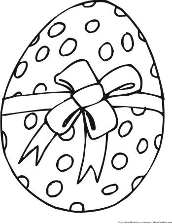 Easter Coloring Pages Print On Of Eggs Here Has A Beautiful Ribbon Ties