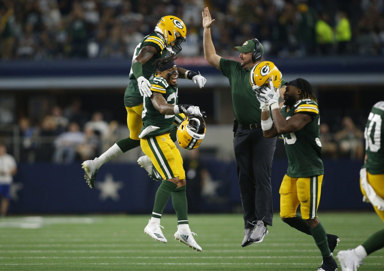 Green Bay S Young Core Proving They Can Become Elite Football Helmets Nfl News Nfl Betting
