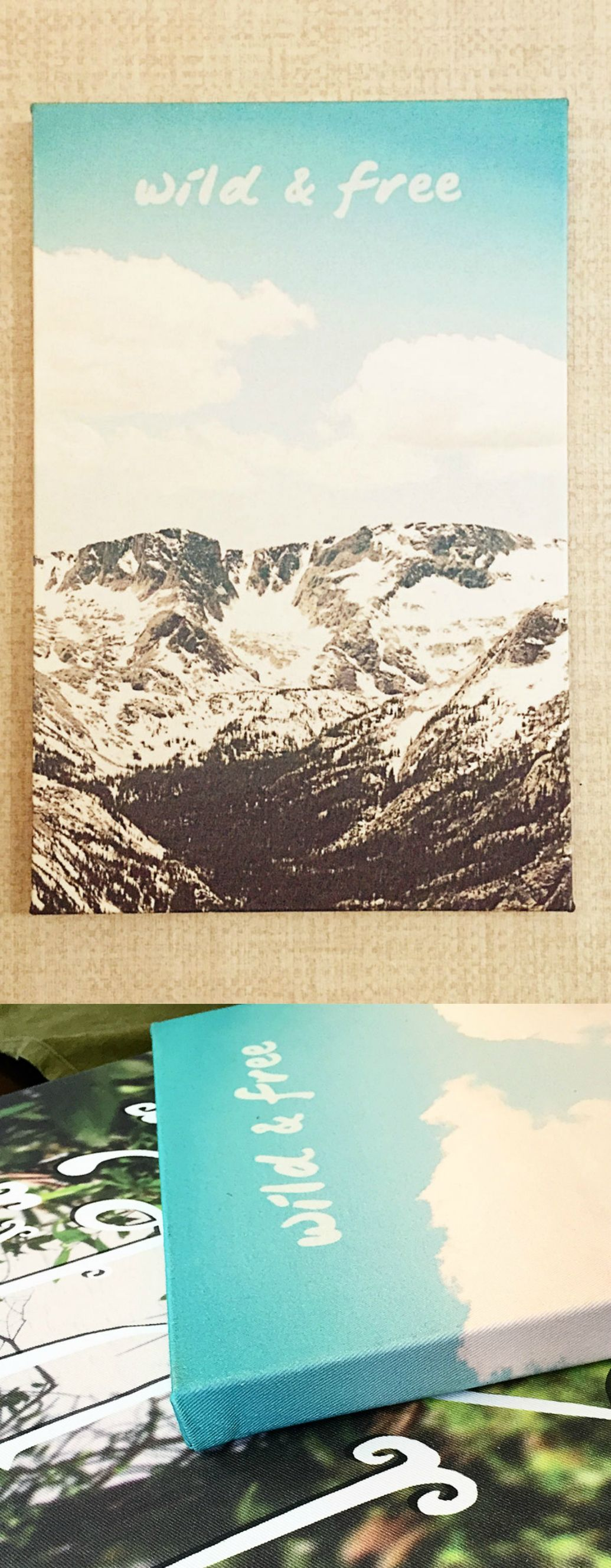 Love this fabric art print. Inspired by the Rocky Mountains. Use code SPRING20 to save 20%