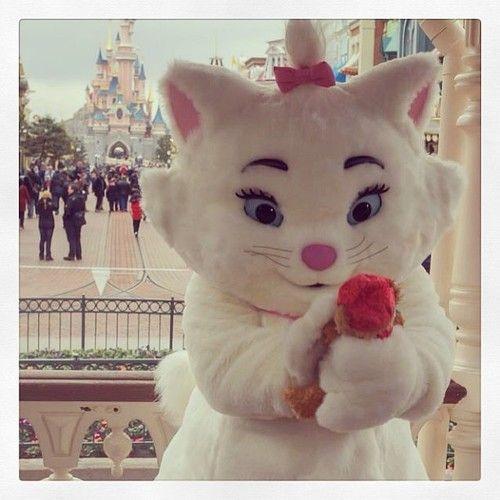 Marie and Duffy at Disneyland Paris
