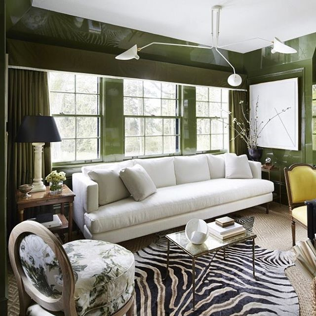 Still Thinking About This Stunning Green Lacquered Room By For The In Chicago Read Wendys Inspiration And See Full Tour On LDV
