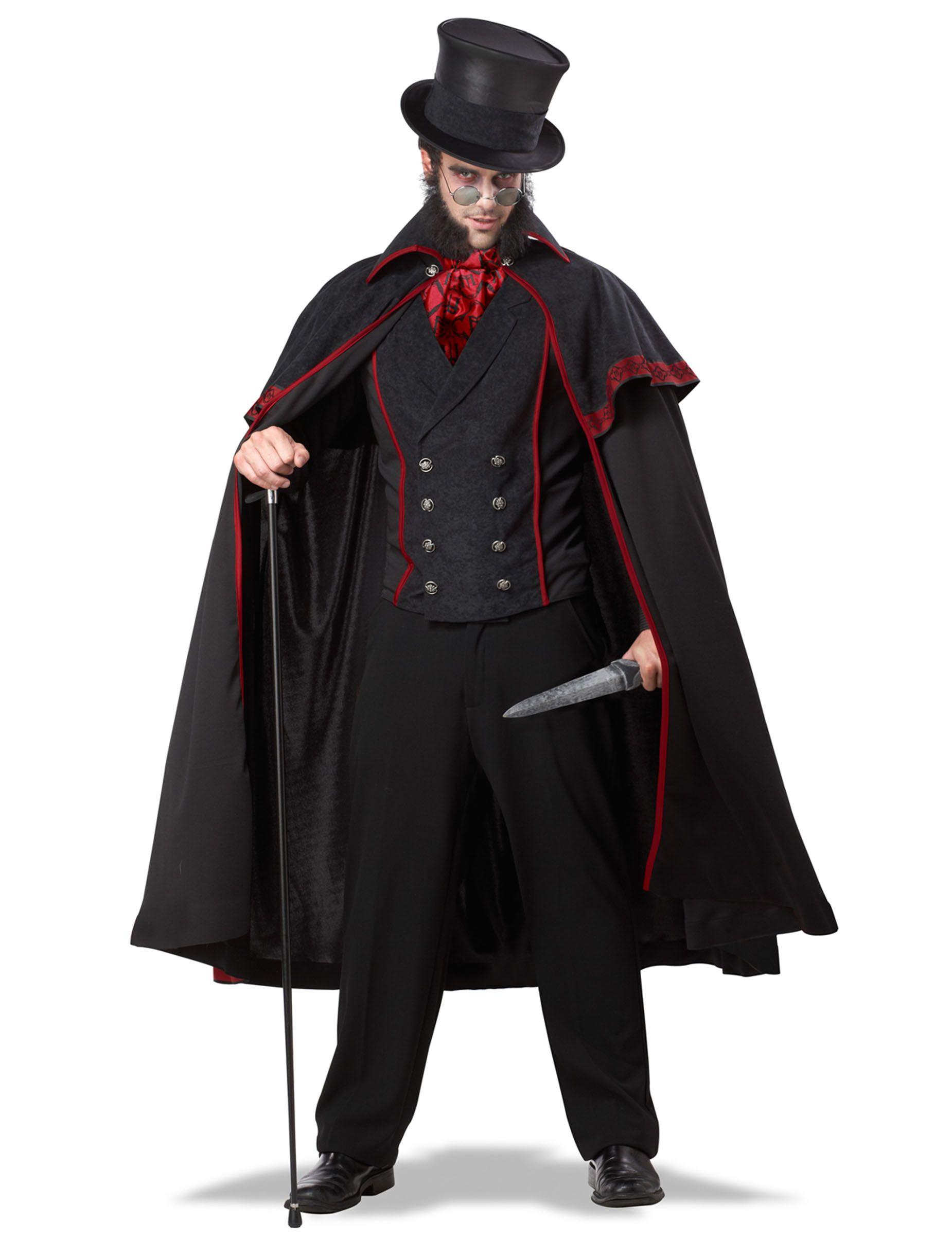Travestimento da Jack lo Squartatore uomo: un costume di Halloween ...