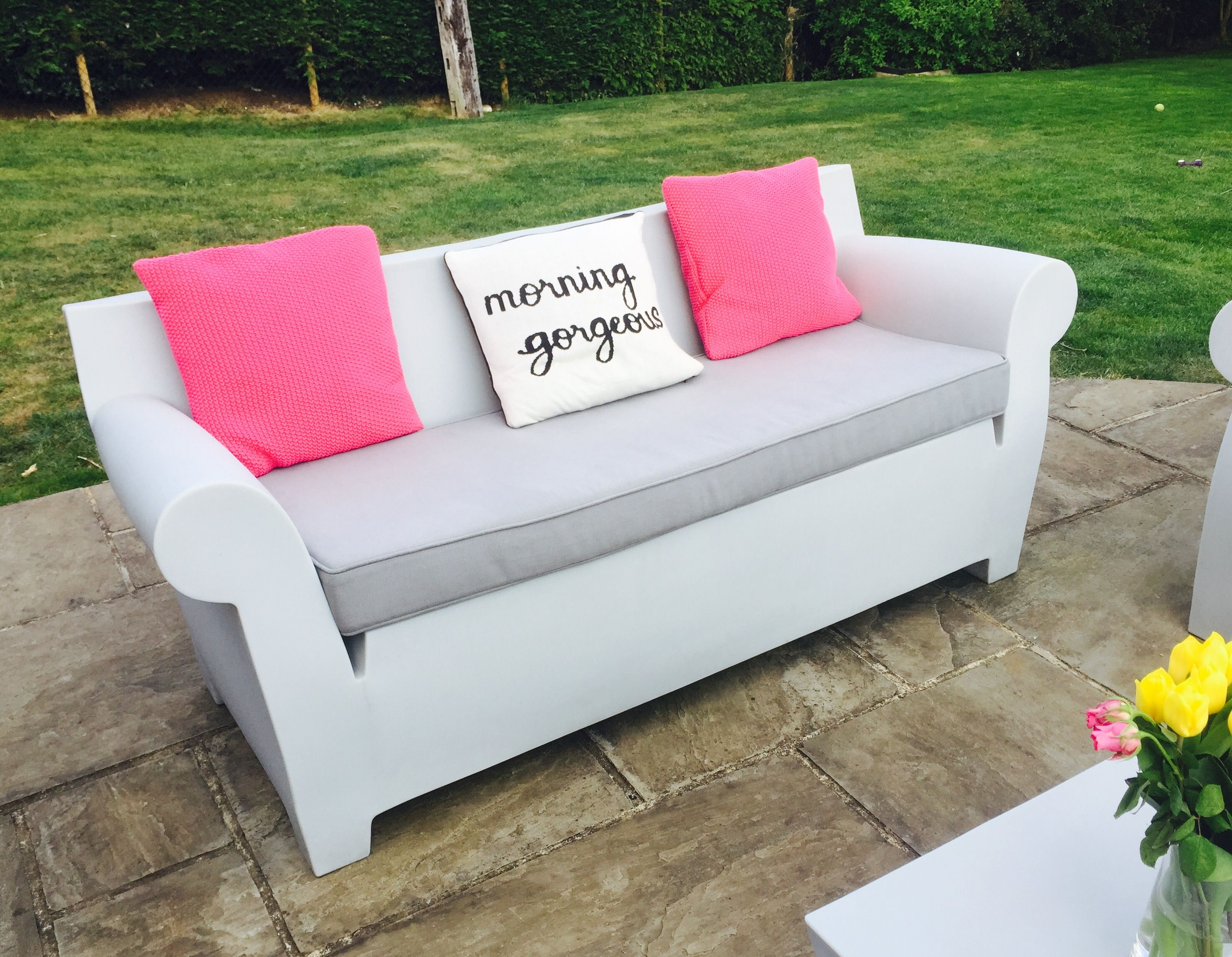 Kartell Outdoor Bubble Sofa With Custom Made Seat Cushion