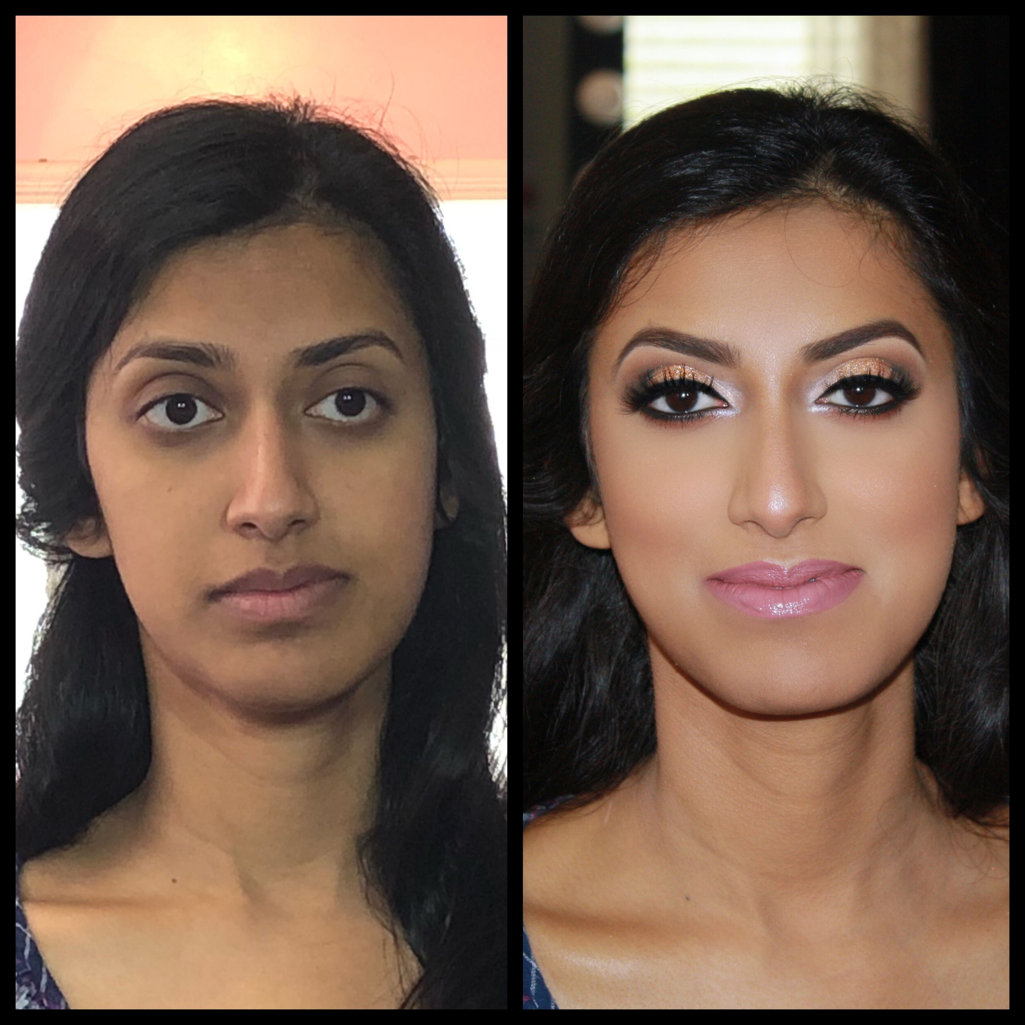 before and after makeup indian wedding makeup | before and