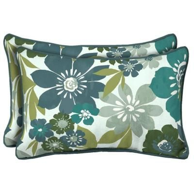 Hampton Bay Garden Grove Rectangular Outdoor Pillow (2 Pack) JE06121C D9D2    The Home Depot