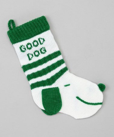 Take a look at this Green 'Good' Dog Stocking by Dennis East: Christmas Decorations on #zulily today!