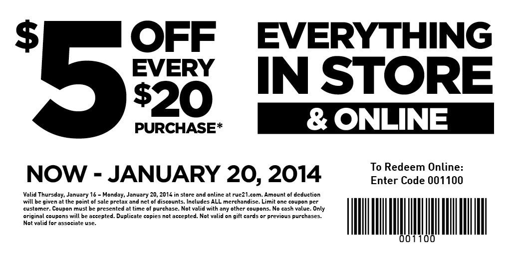 saving 4 a sunny day rue 21 coupon
