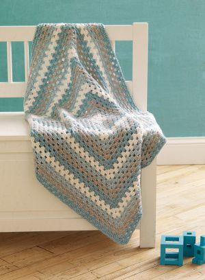 4-Color Granny Baby Blanket Pattern L10115B, Lion Brand Martha ... : martha stewart baby quilt - Adamdwight.com