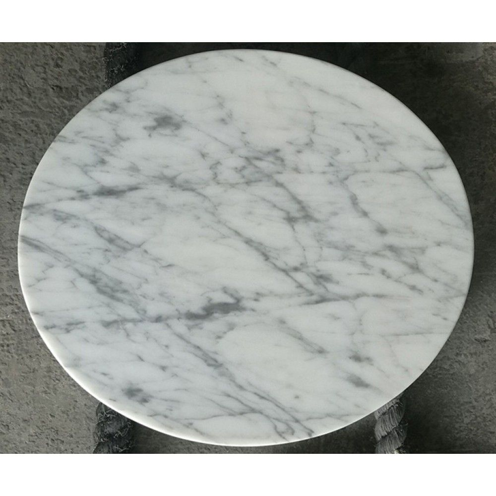Custom Cut Round Carrara White Marble Table Tops China Supplier Stone2