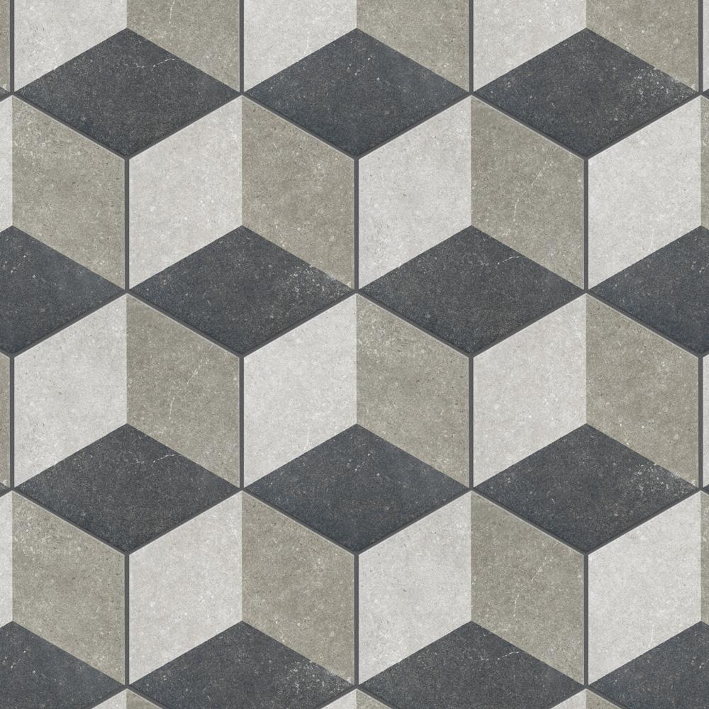 Merola Tile Traffic Hex 3d Grey 8 5 8 In X 9 7 8 In Porcelain Floor And Wall Tile 11 56 Sq Ft Case Fcd103dx The Home Depot Porcelain Flooring Flooring Tile Floor