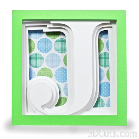 Letter J Shadow Box Alphabet Shadow Box Cardboard House Shadow Boxes