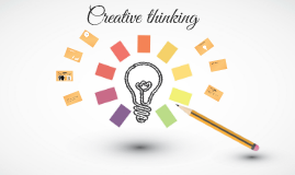 Creative Thinking Prezi Template With Sketching An Idea With Pen