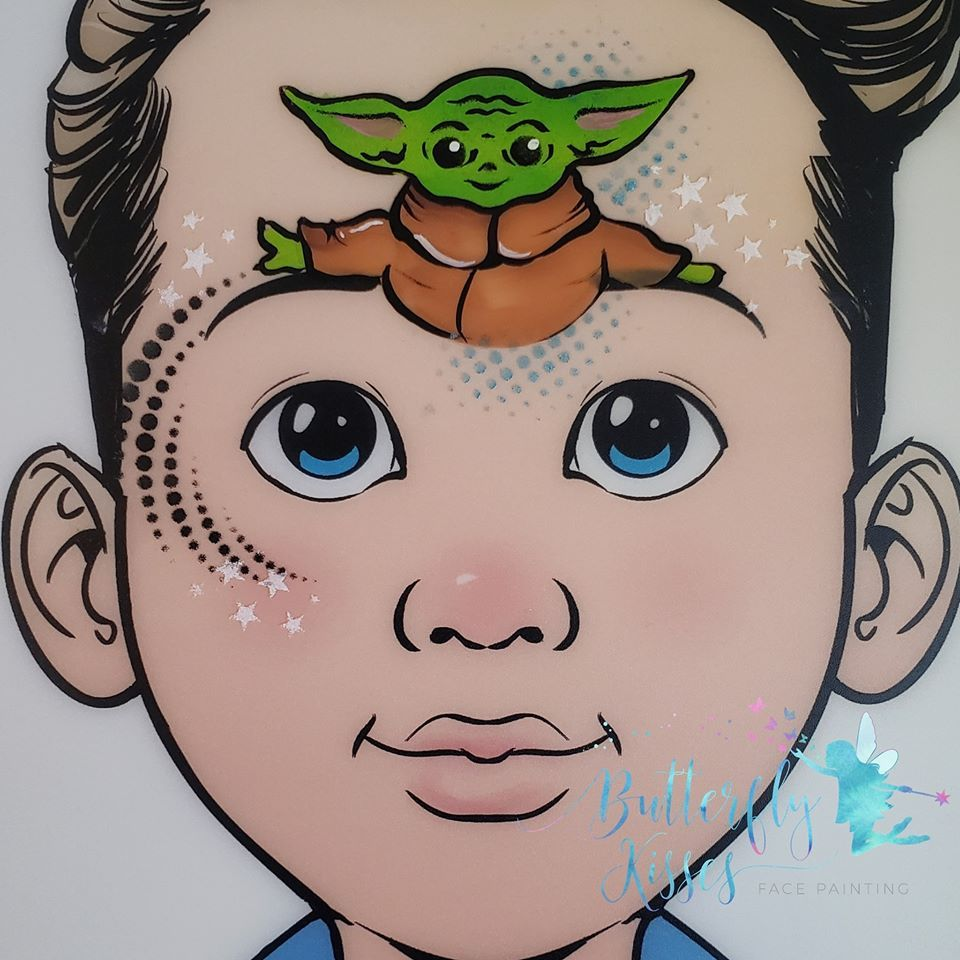 Baby Yoda Designs Face Painting Face Painting Designs Kiss Face Paint