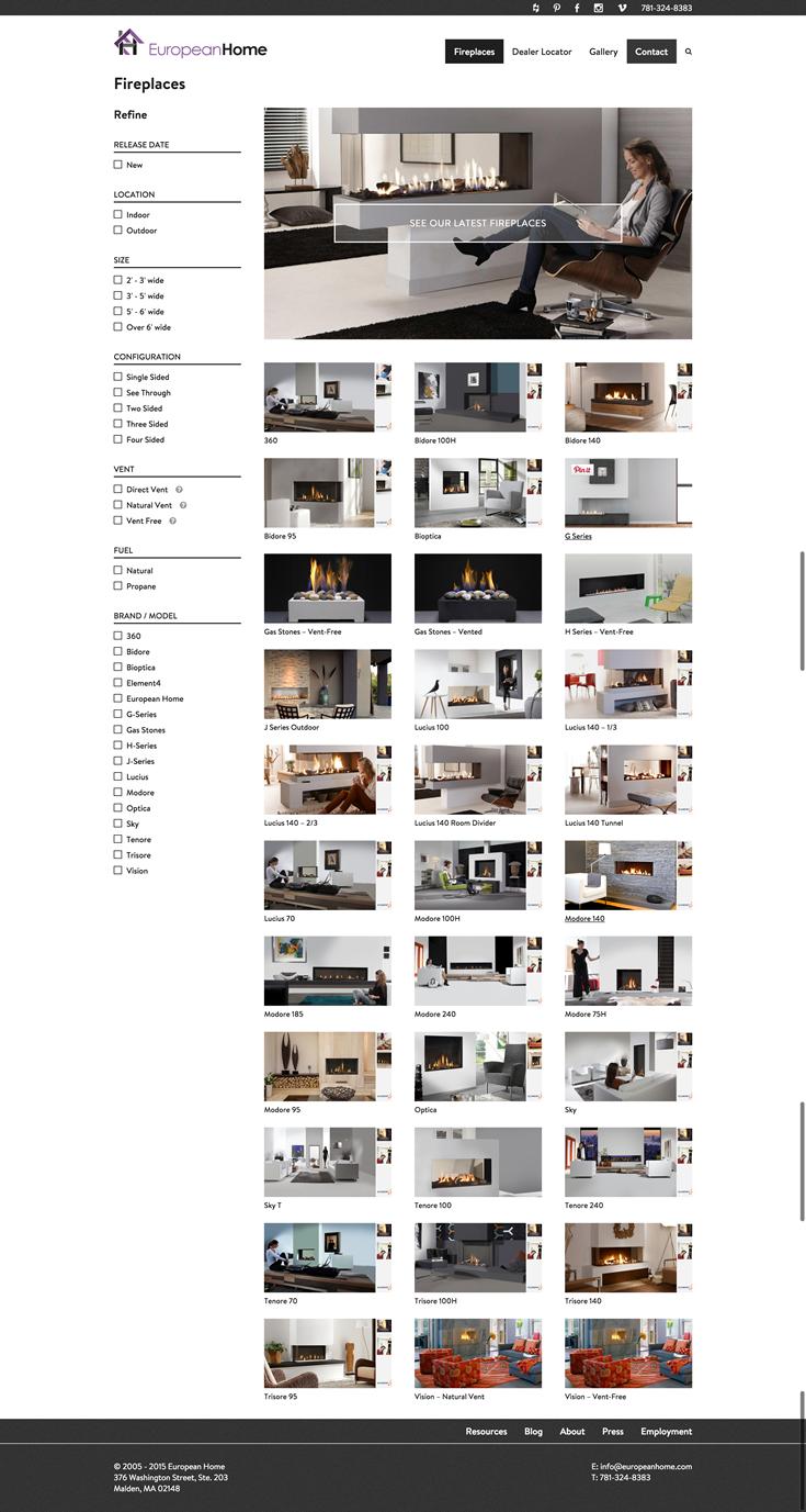 Beautiful WordPress website theme design for fireplace company ...