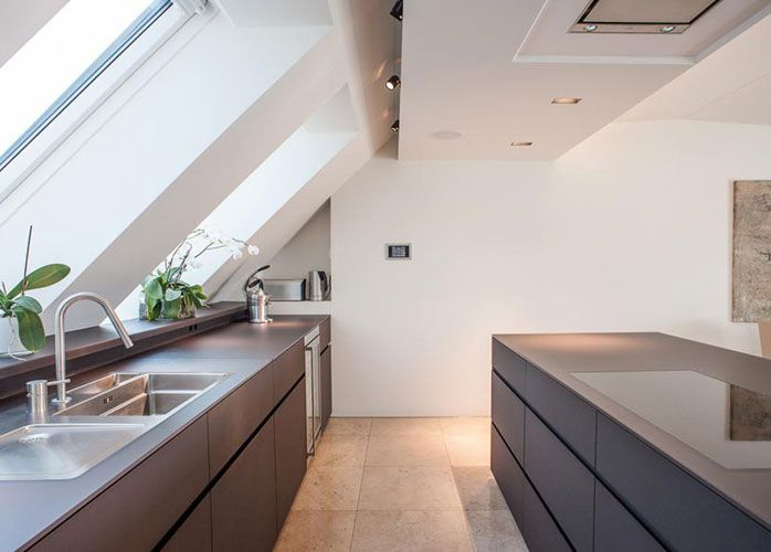 Pin by salima on attic style Pinterest Lofts, Attic and Kitchen - küche in dachschräge