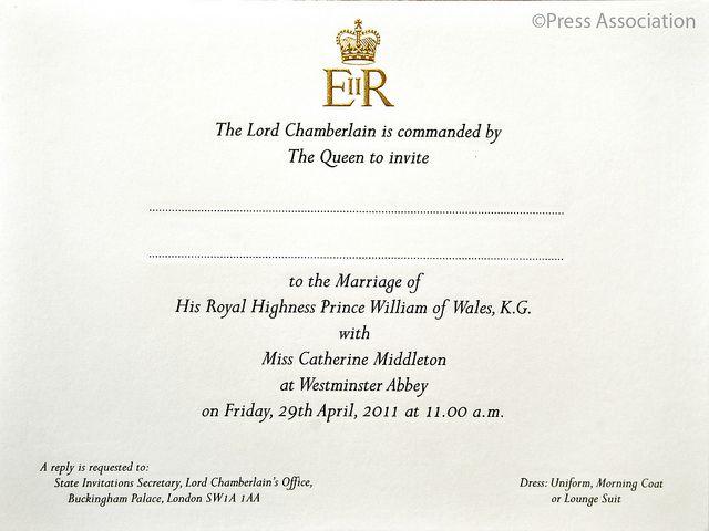 Royal Wedding Invitation Royal Wedding Invitation Royal Invitation Kate Middleton Wedding