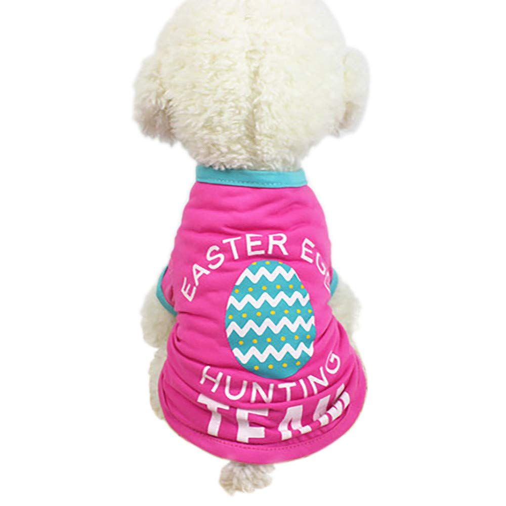 Pet Clothes For Girls Boys Easter Dog Clothing Polyester T Shirt