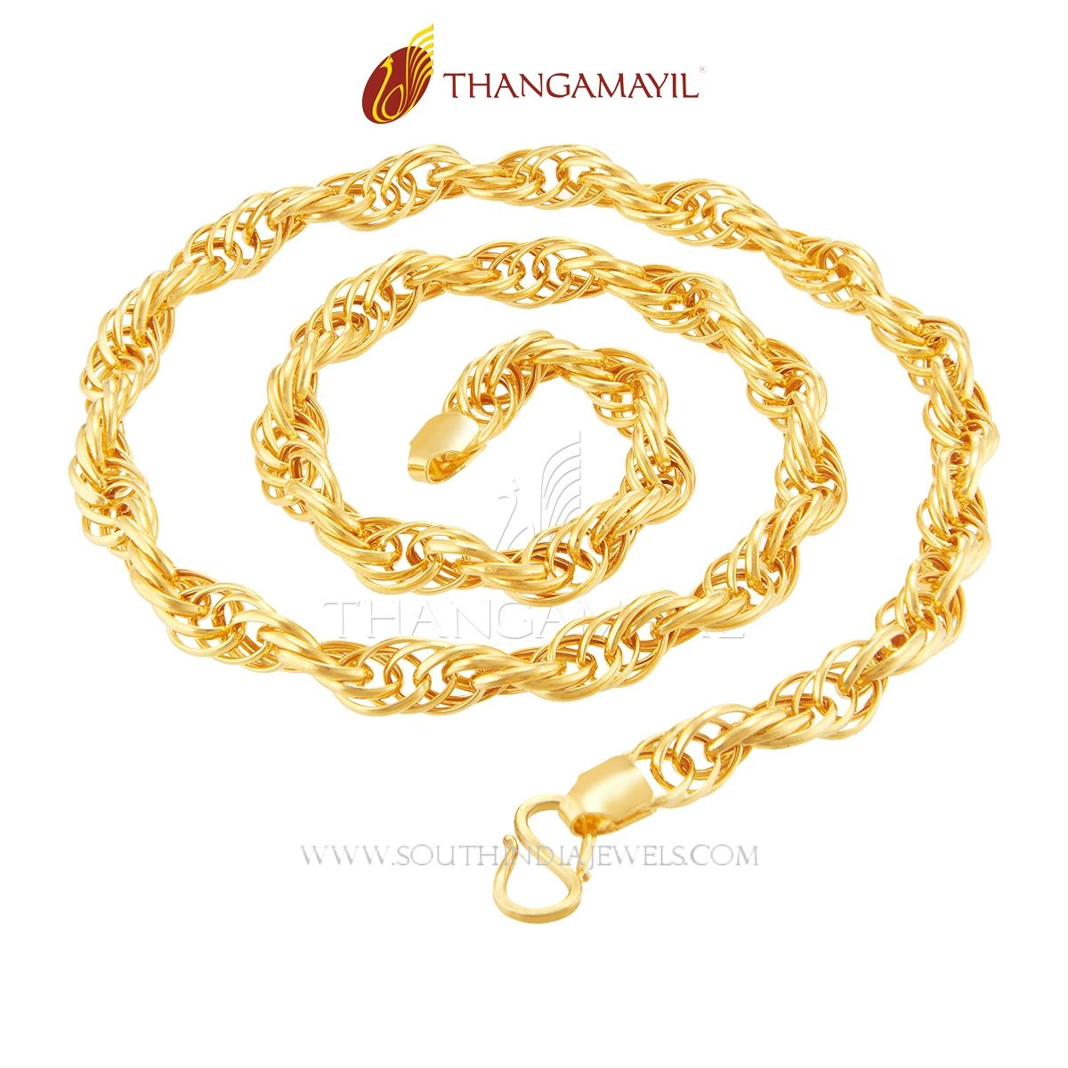 22K Gold Chain From Thangamyil Jewellery | Daily wear, Chains and ...