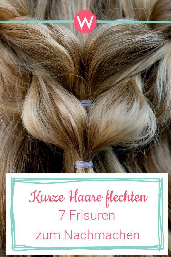 Flechtfrisuren für kurze Haare: 7 Frisuren mit Anleitung | Wunderweib
