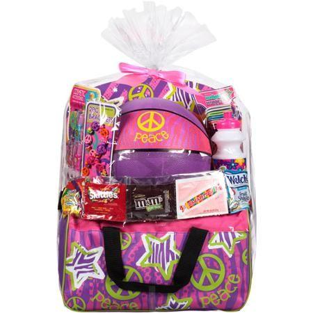 Easter basket with girl basketball gym bag toys and assorted easter basket with girl basketball gym bag toys and assorted candies 7 pc negle Image collections