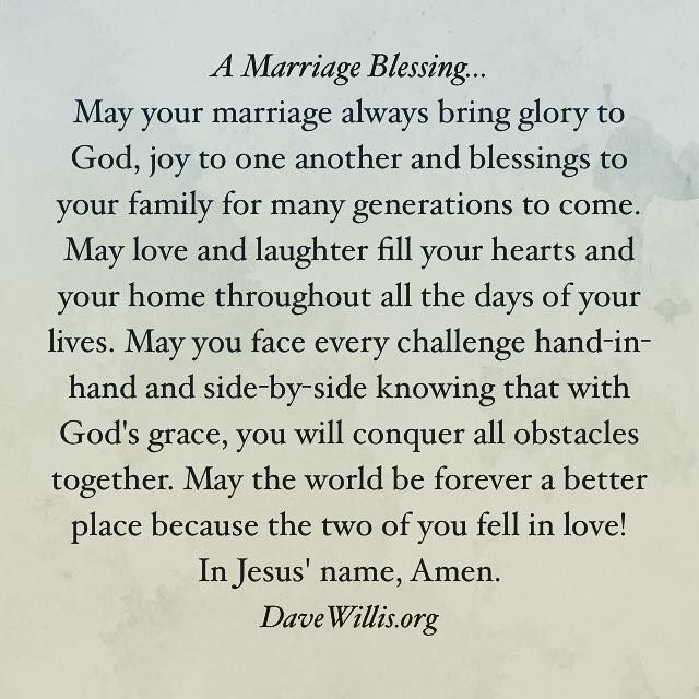 A Marriage Blessing Wedding Pinterest Marriage Wedding And