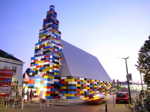 Artist Filip Jonker and Project.DWG Architecture created this Large Scale Lego Pavilion in Enschede, the Netherlands.