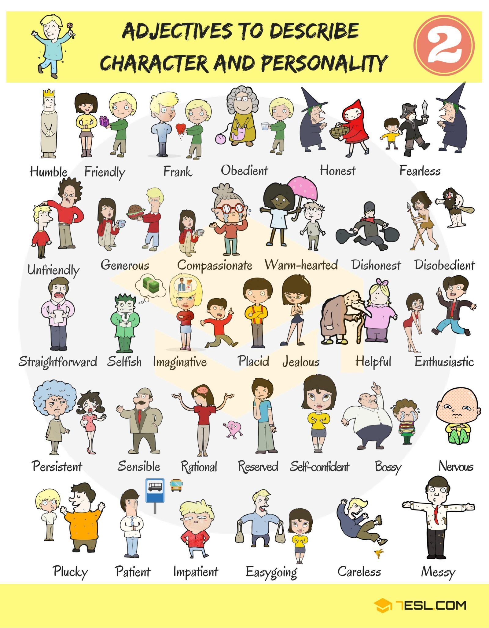 0011 English Adjectives for Describing Character and