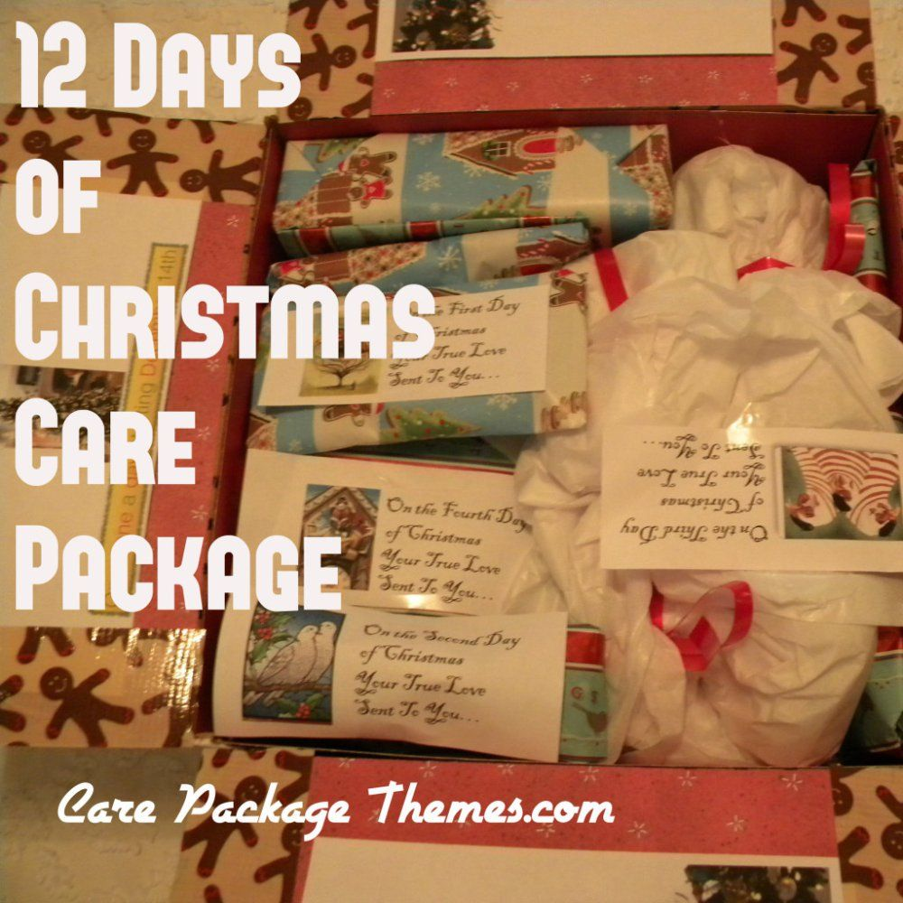 Twelve Days Of Christmas Care Package Care Package Themes Com Christmas Care Package Care Package Twelve Days Of Christmas
