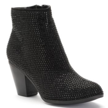 Sequin Ankle Boot Womens Boots