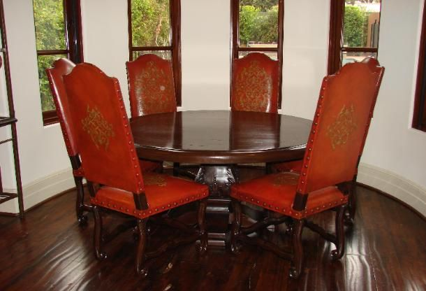Romani Designs Lorenso Dining Red Leather Chairs Alexander Dining Fascinating Old Fashioned Dining Room Sets Decorating Design