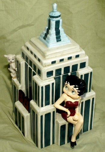 Betty Boop Skyscraper Limited Edition of 10,000 Cookie Jar made in China by Vandor