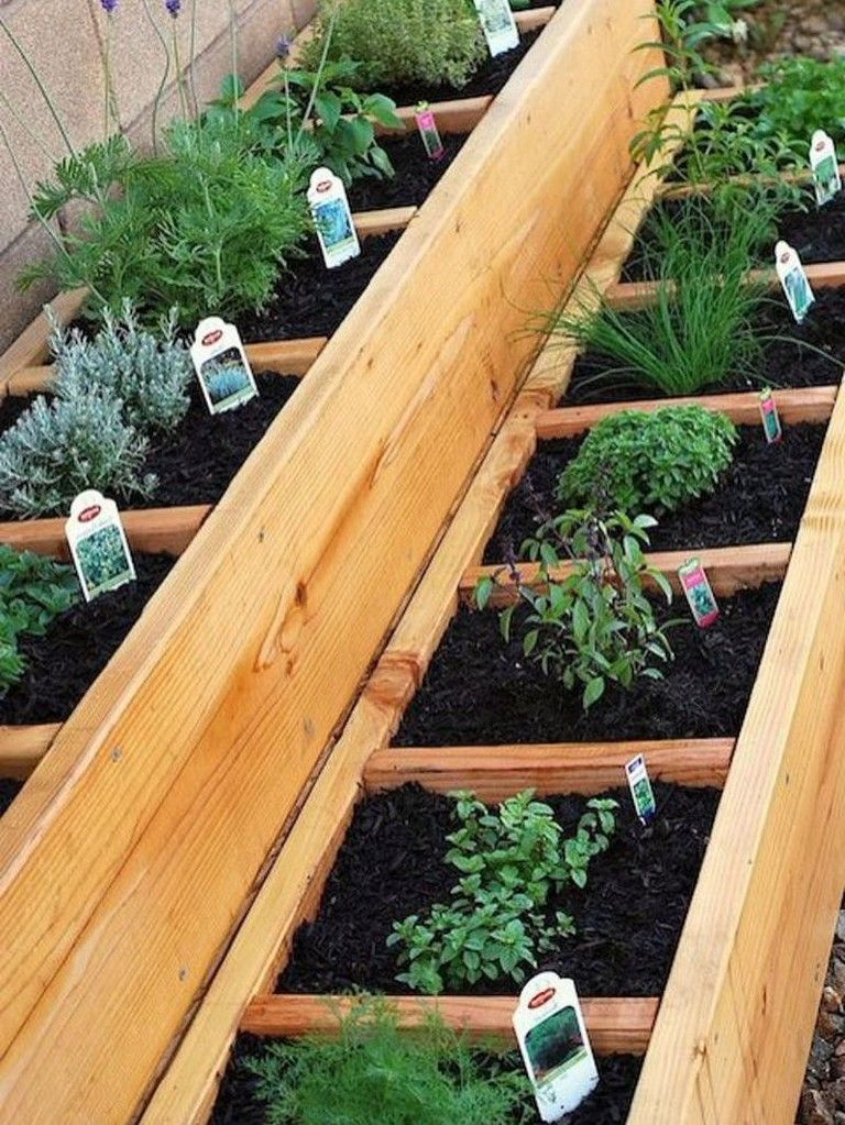25 Creative Grow Fruit And Vegetables In A Cool Raised Garden Bed With Images Raised Herb Garden Raised Bed Herb Garden Small Vegetable Gardens