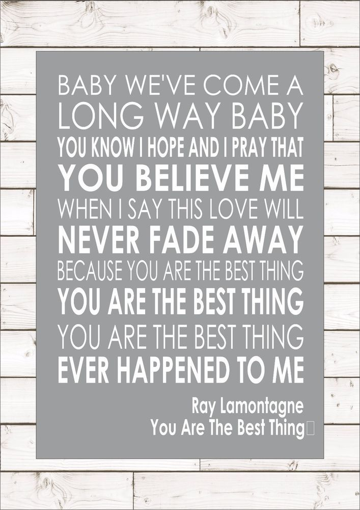 Details About You Are The Best Thing Ray Lamontagne Word