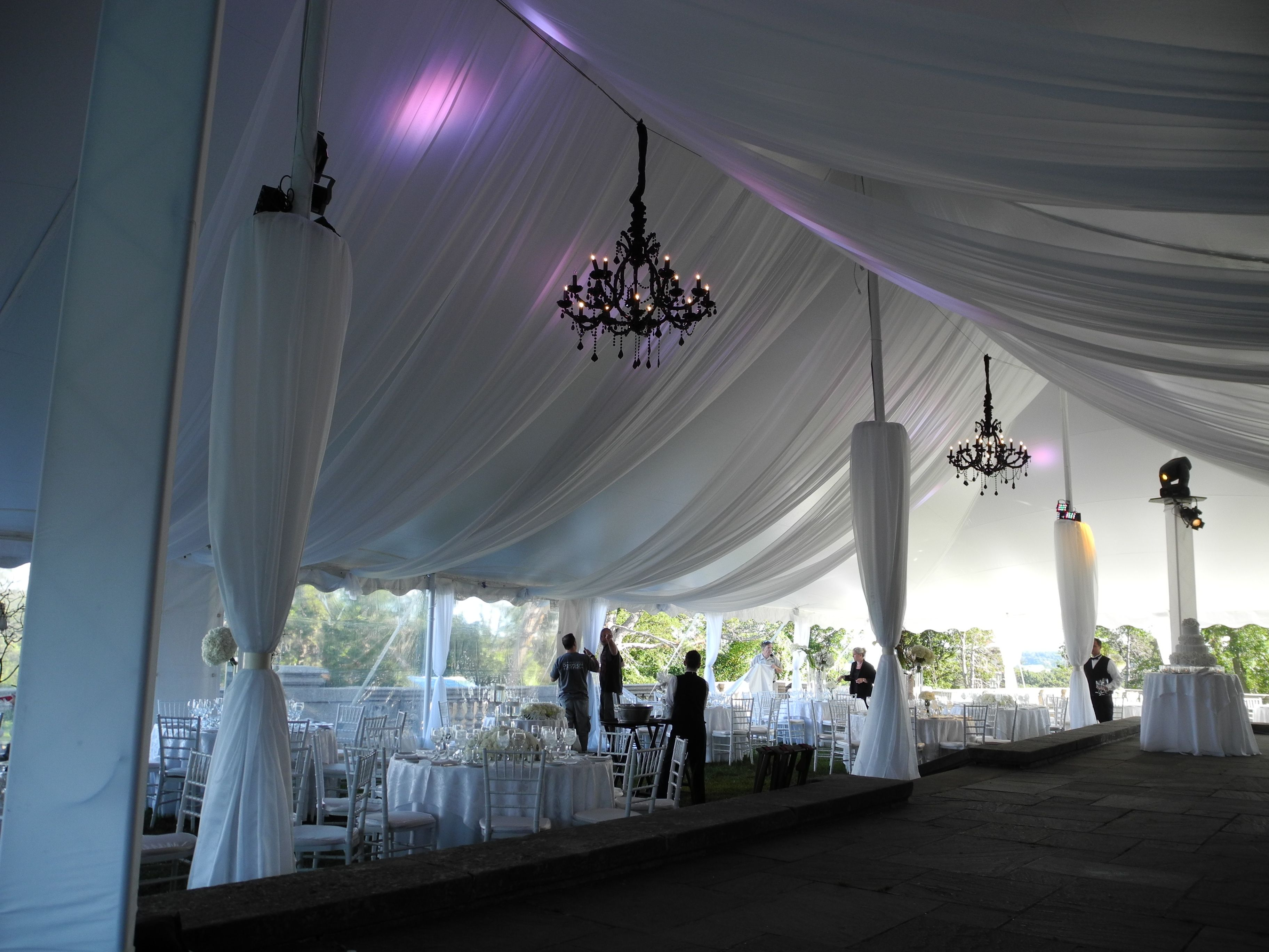 hang draped tulum blue pink drapes how events co for ceiling and drape smsender to