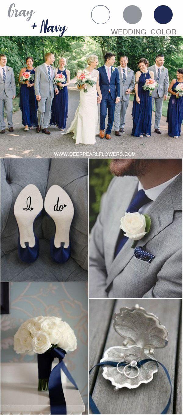 grey and navy blue wedding color ideas #wedding #weddings #weddingideas #weddingcolors #deerpearlflowe